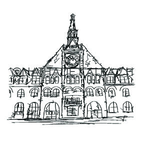 Nathalie Kalbach | NK5581M - Main Station - Rubber Art Stamp
