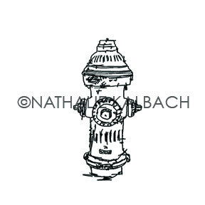 Nathalie Kalbach | NK5586D - Hydrant - Rubber Art Stamp