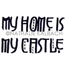 Nathalie Kalbach | NK7053G - My Home - Rubber Art Stamp
