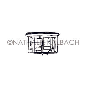 Nathalie Kalbach | NK7056AA -  Bay Window - Rubber Art Stamp