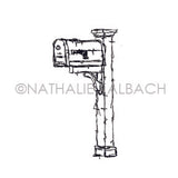 Nathalie Kalbach | NK7058D -  Mail Box - Rubber Art Stamp