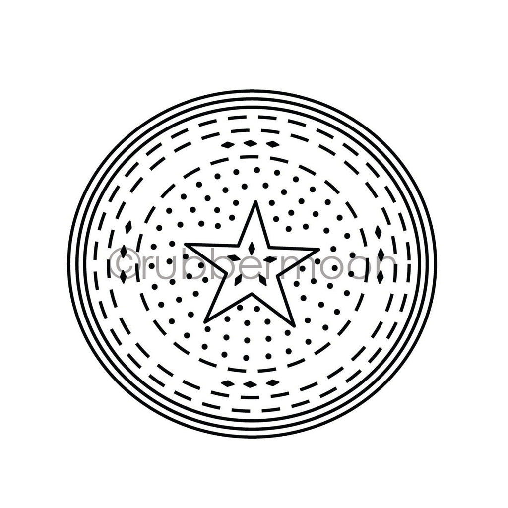 Nathalie Kalbach | NK7234K - Circle Drive Positive - Rubber Art Stamp