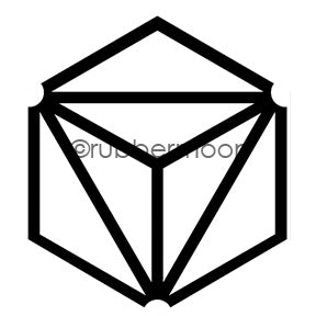 Nathalie Kalbach | NK7395J - Diamond Hex Positive - Rubber Art Stamp