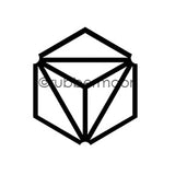 Nathalie Kalbach | NK7400C - Diamond Hex Positive (small) - Rubber Art Stamp