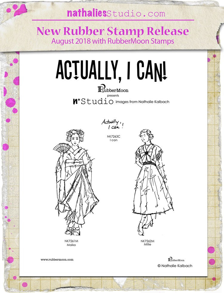 Nathalie Kalbach | NKAIC3 - Actually, I Can! Set - Rubber Art Stamps