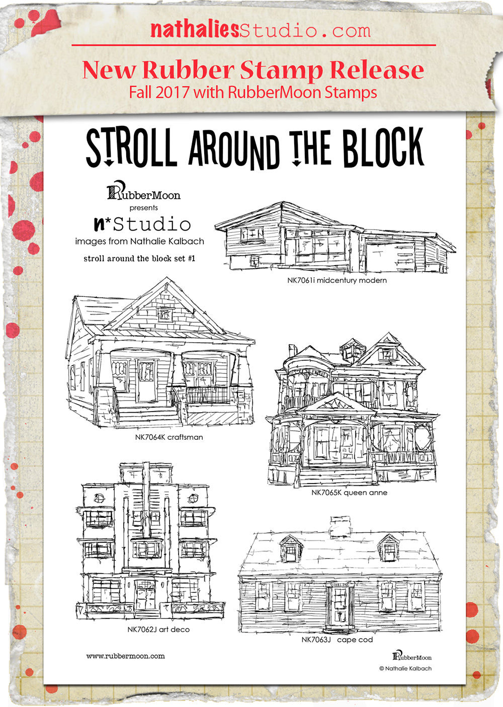 Nathalie Kalbach | NKSAB0105 | Stroll Around the Block Stamp Set 1