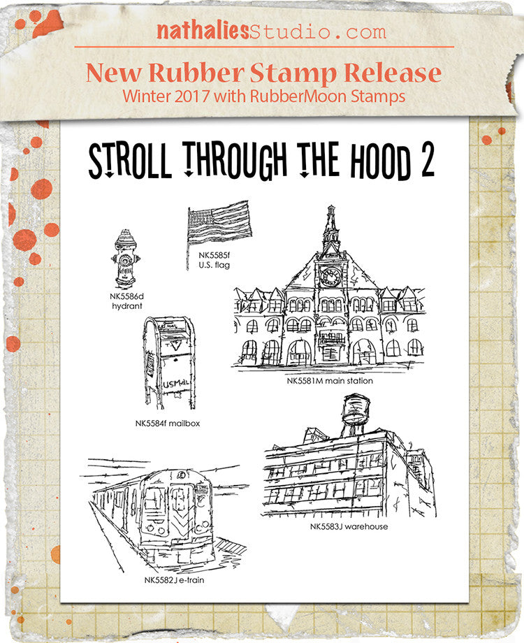 Nathalie Kalbach | NKSTH0206 | Stroll Through the Hood Stamp Set 2