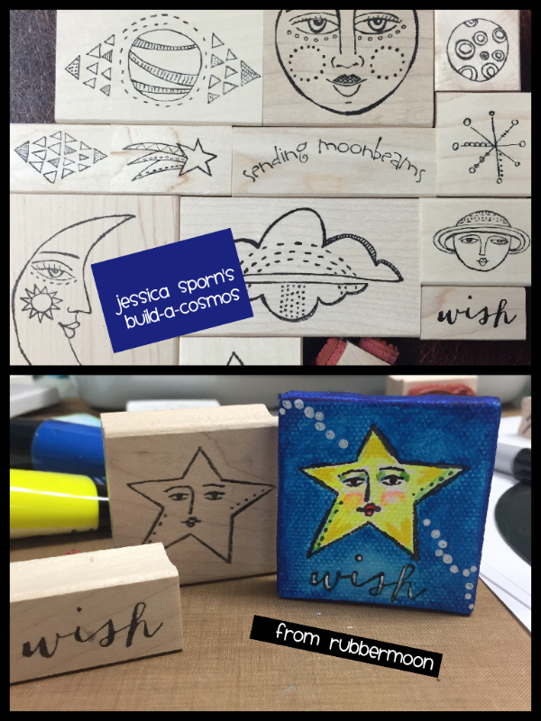 Jessica Sporn | JSBAC14 | Build-a-Cosmos Stamp Set