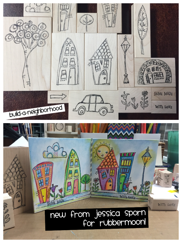 Jessica Sporn | JSBAN15 | Build-a-Neighborhood Stamp Set