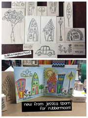Build a Neighborhood | Complete Set (15 Art Stamps) - BAN1 - Rubber Art Stamps