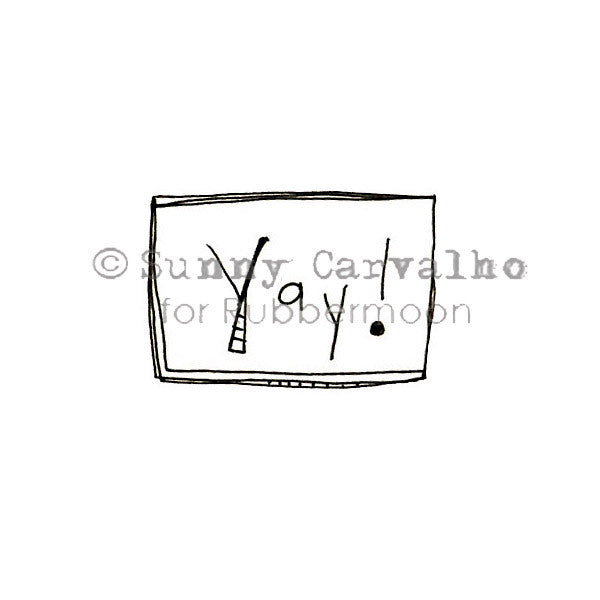 Sunny Carvalho | SC5215B - Yay! - Rubber Art Stamp