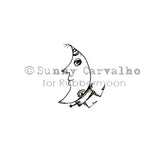 Sunny Carvalho | SC5219B - Lou Moon - Rubber Art Stamp