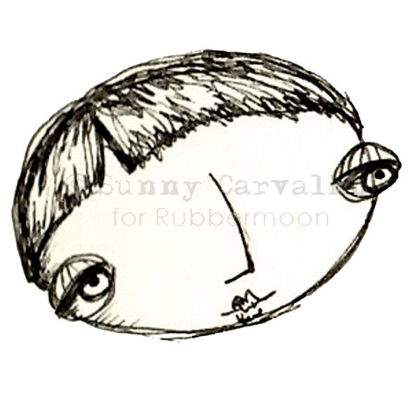 A Head Bigger Than All the Rest! - SC5220M - Rubber Art Stamp