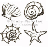 Sunny Carvalho | SC5234K - By the Seashore Cube - Rubber Art Stamp