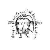 Sunny Carvalho | SC5395G - Hang in There - Rubber Art Stamp