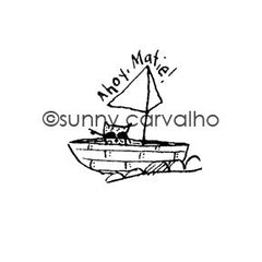 Ahoy - SC5399F - Rubber Art Stamp