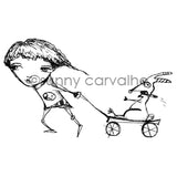 Sunny Carvalho | SC7043I - Pulling For You - Rubber Art Stamp