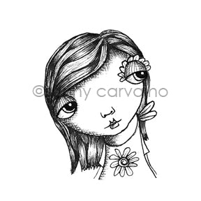 Sunny Carvalho | SC7047F - Daisy Face - Rubber Art Stamp