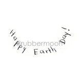 "Sunny Carvalho | SC7225G - ""Happy Earth Day!"" - Rubber Art Stamp"