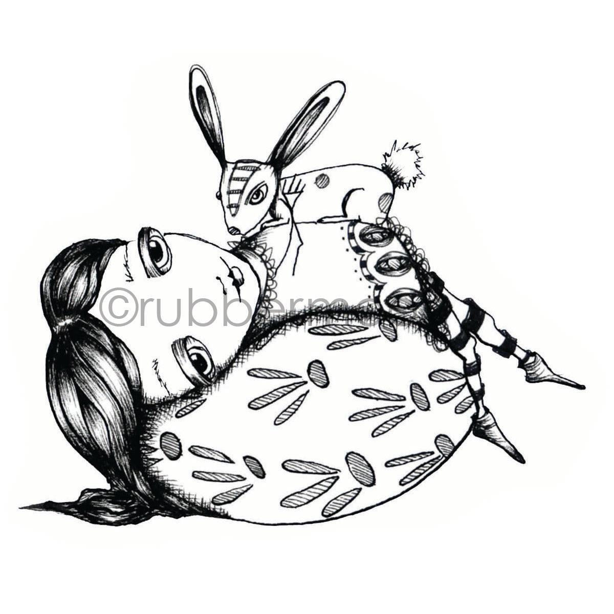 Sunny Carvalho | SC7226J - Egg-citing Life - Rubber Art Stamp