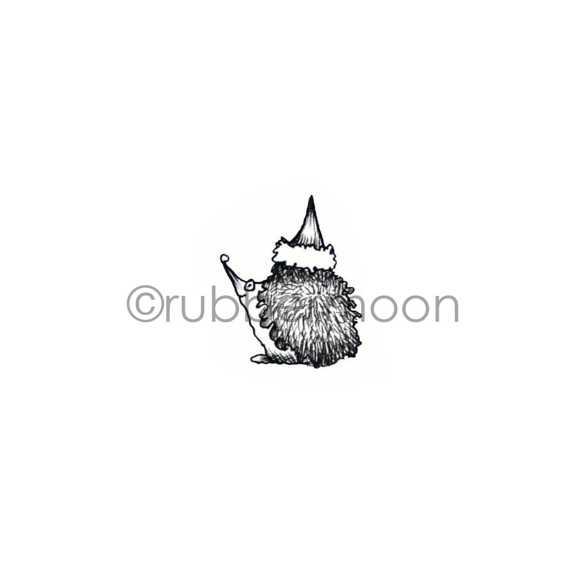 Sunny Carvalho | SC7228B - Holly Jolly Hedgie - Rubber Art Stamp