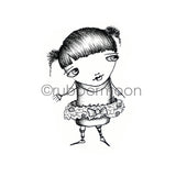 Sunny Carvalho | SC7232H - Holiday Tutu - Rubber Art Stamp