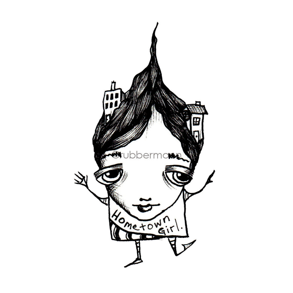 Sunny Carvalho | SC7479H - Hometown Girl - Rubber Art Stamp