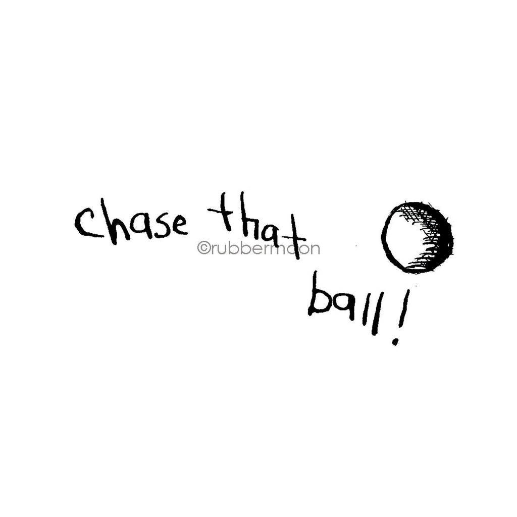Sunny Carvalho | SC7483G - Chase that Ball (w/ Ball End-Mount) - Rubber Art Stamp