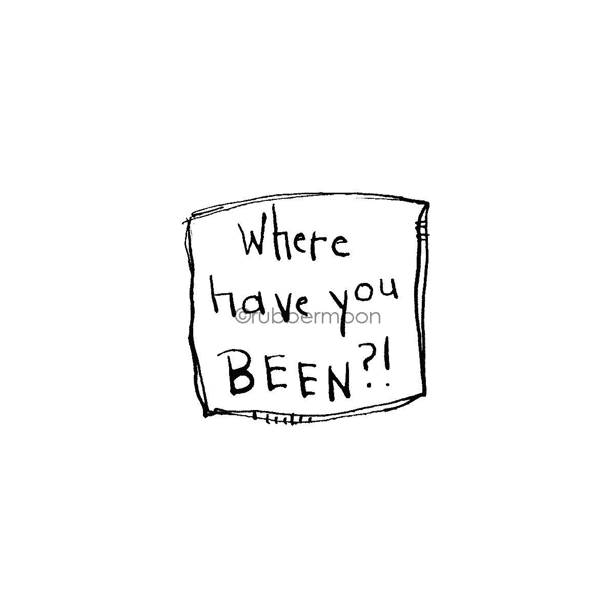 "Sunny Carvalho | SC7488E - ""Where Have You BEEN?!"" - Rubber Art Stamp"