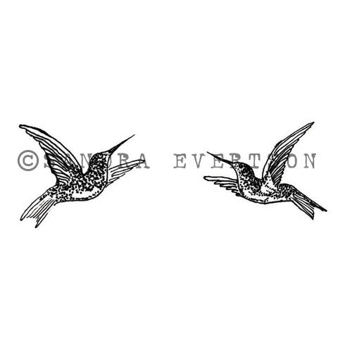 Sandra Evertson | SE6004G - Ruby Throats (Set of 2) - Rubber Art Stamp