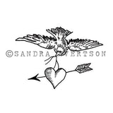 Sandra Evertson | SE6006F - Dove Amor - Rubber Art Stamp