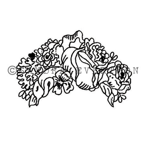 Sandra Evertson | SE6007F - Flores - Rubber Art Stamp