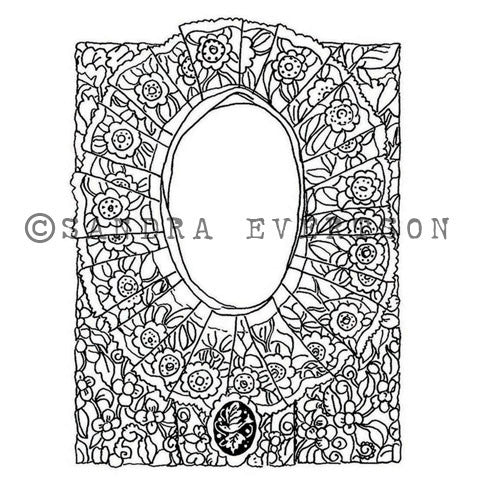 Sandra Evertson | SE6010K - Mantilla - Rubber Art Stamp