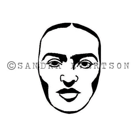 Sandra Evertson | SE6012E - Introspective - Rubber Art Stamp