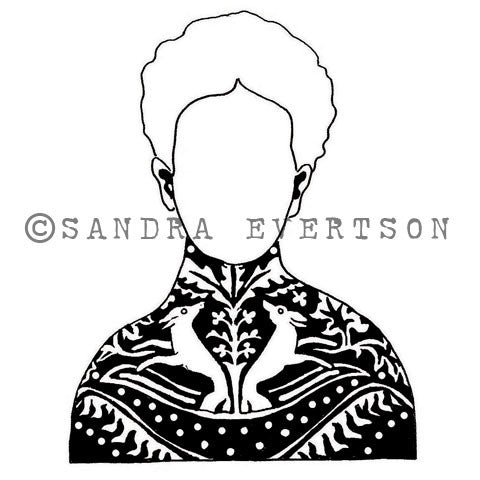 Sandra Evertson | SE6013K - Otomi - Rubber Art Stamp
