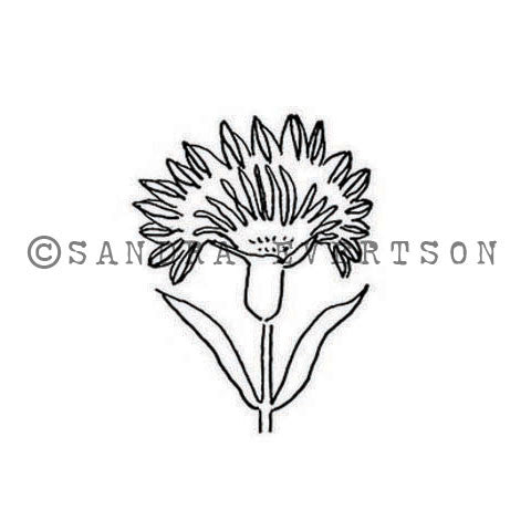 Sandra Evertson | SE6021C - Basque - Rubber Art Stamp