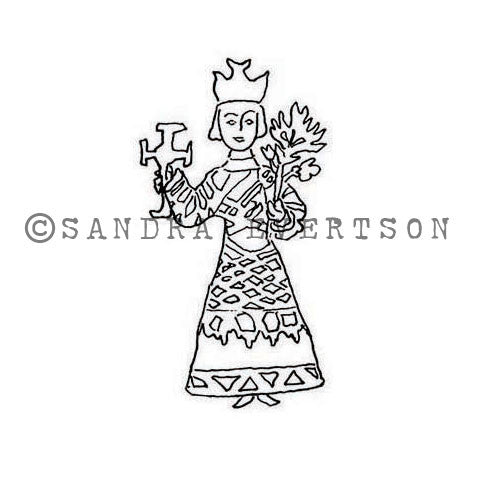 Sandra Evertson | SE6022D - Devotion - Rubber Art Stamp