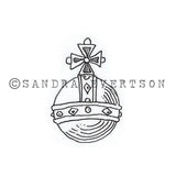 Sandra Evertson | SE6023D - Globus - Rubber Art Stamp