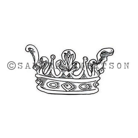 Sandra Evertson | SE6025D - Coronam - Rubber Art Stamp