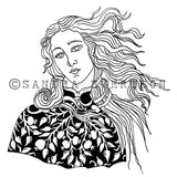Sandra Evertson | SE6027L - Venus - Rubber Art Stamp