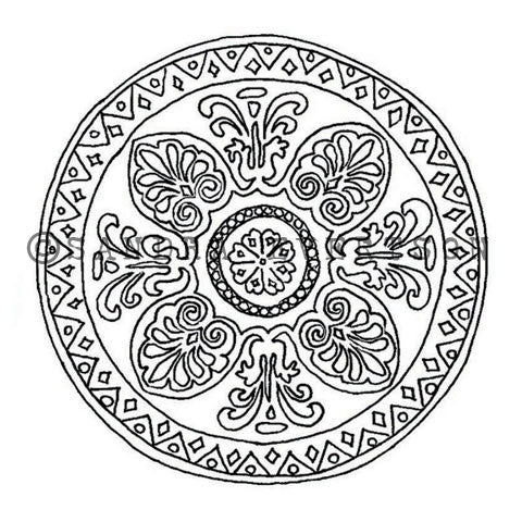 Sandra Evertson | SE6028H - Mandala - Rubber Art Stamp