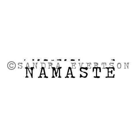 Sandra Evertson | SE6033B - Namaste - Rubber Art Stamp