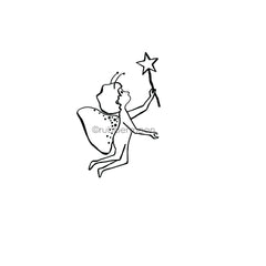Sandee Setliff | SS7287F - Fairy Bright - Rubber Art Stamp
