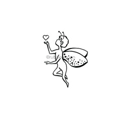 Sandee Setliff | SS7286F - Fairy Lovely - Rubber Art Stamp