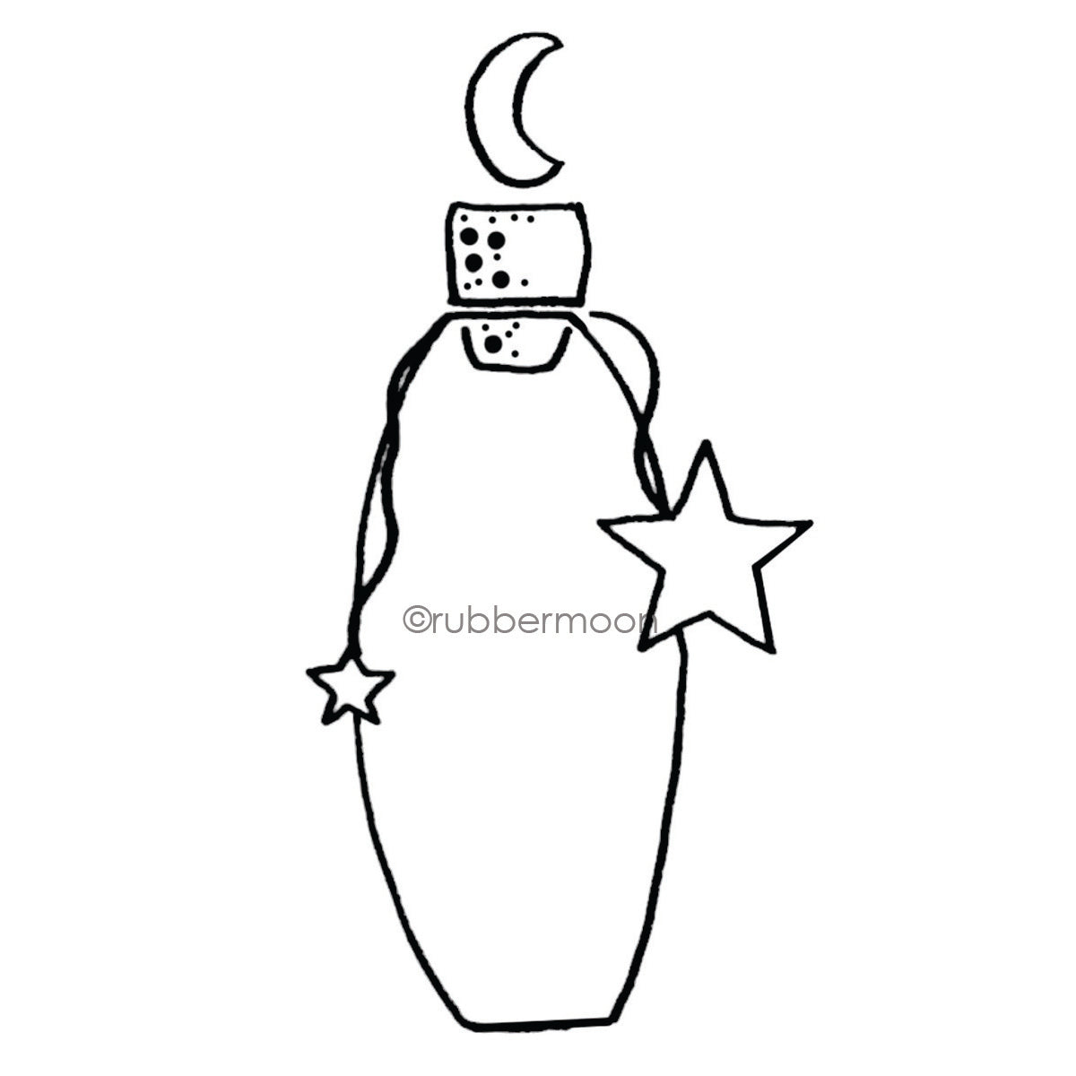 Sandee Setliff | SS7293I - Bottle o' Moonbeams - Rubber Art Stamp