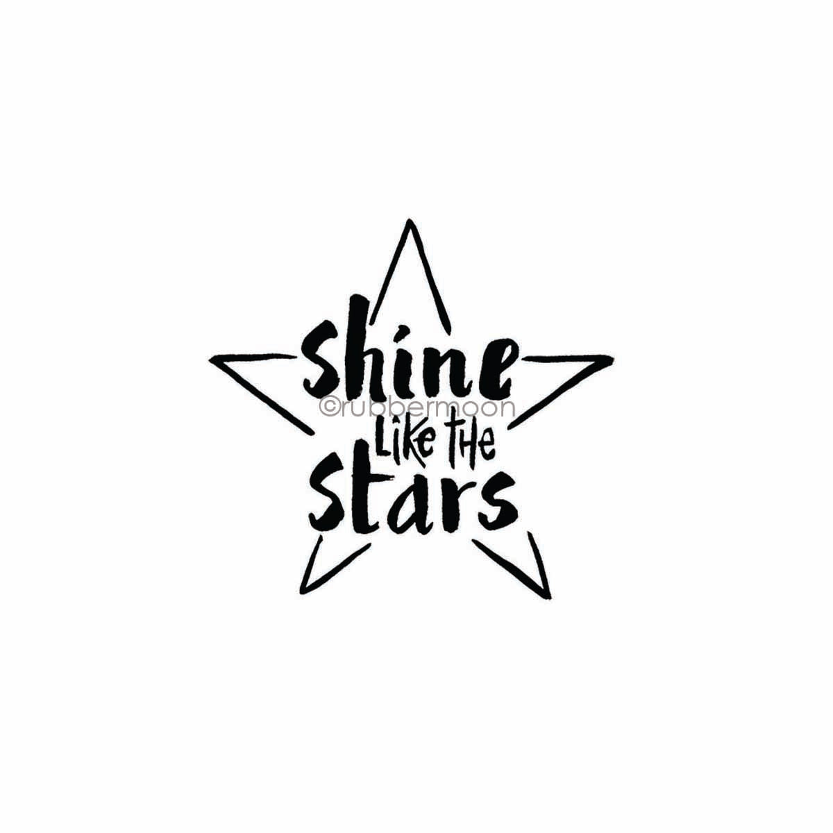 "Sandee Setliff | SS7748G - ""Shine Like the Stars"" - Rubber Art Stamp"