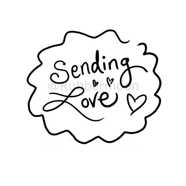 Sending Love - WF2E - Rubber Art Stamp