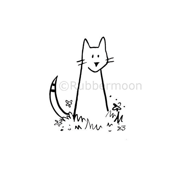 Kitty Cat - WF5277E - Rubber Art Stamp