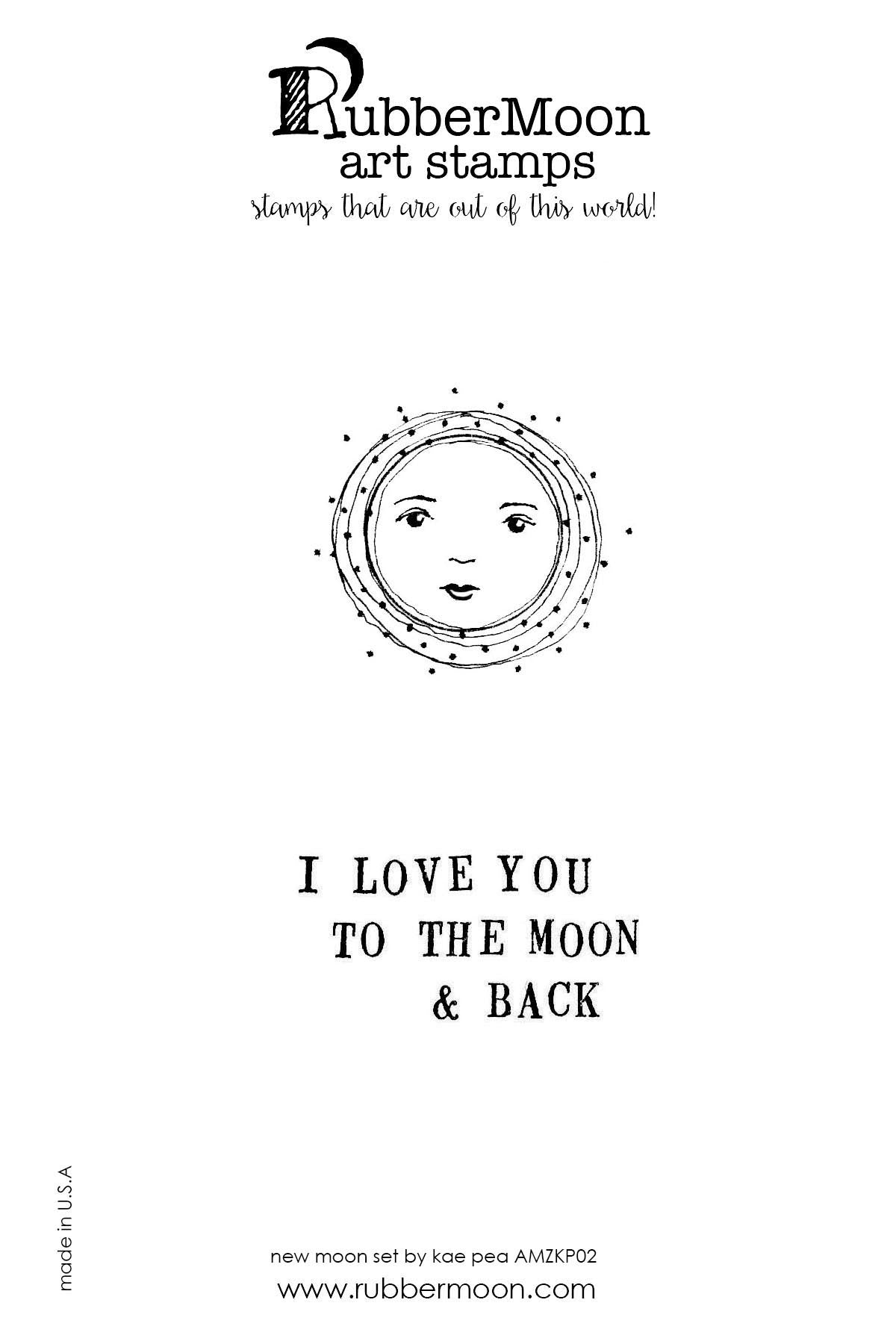 Kae Pea | KPMAB02 | To the Moon and Back Stamp Set