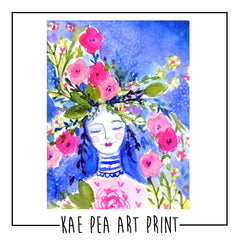 "Kae Pea's Original ""Blooming"" Watercolor Print"